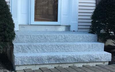 Granite Stair Step Installation and General Masonry Repair