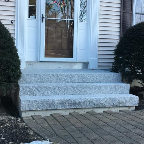 A Set of Granite Steps.
