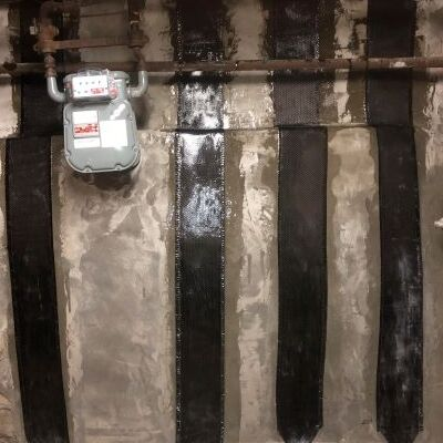 Carbon Fiber Repair on Bowed Foundation.